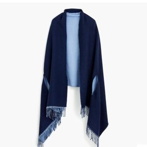 J.Crew Blue Reversible Cape scarf